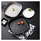 Adecuado para cocina interior 22 * 24 cm mango de carne fríe sartén antiadherente panqueque...