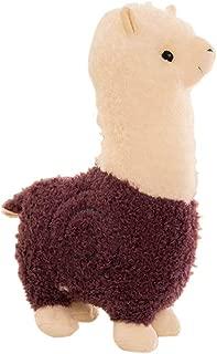 B-CREATOR Llama Stuffed Animal Cuddly Purple 🦙 Fluffy Alpaca Plush Toy Soft Giant Camel Home Decor, Medium Pacos, 18 inches