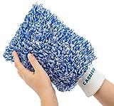 Gant 100 % microfibre - Parfait pour le nettoyage humide des voitures et des motos gant voiture fée du logis lavage voiture produit lavage auto peau de chamois gant microfibre gant vitre lavage auto
