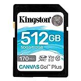 キングストン SDXCカード 512GB 最大170MB/s Class10 UHS-I U3 V30 4K Canvas Go! Plus SDG3/512GB 永久保証