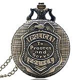 Jlyshop - Reloj de bolsillo para niño, diseño vintage de cuarzo con vaporizador, color bronce