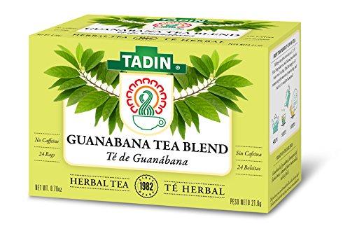 Tadin Herb and Tea Guanabana Herbal Tea Blend, Caffeine Free, 24 Tea Bags Per Box, Pack of 6