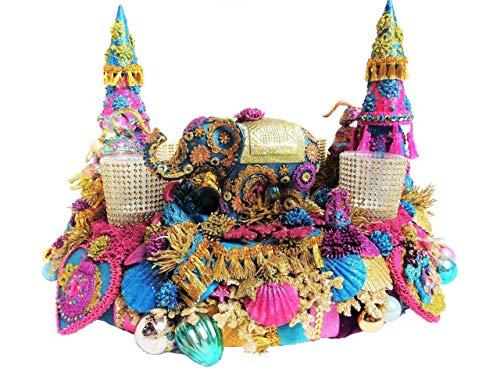 Adventskranz WEIHNACHTSKARAWANE groß Boho bunt-gold Orient Adventsdeko Elefant Tischkranz Vintage Weihnachtsdeko Retro Weihnachtskranz Märchenkranz 1001 Nacht Kranz Advent oriental