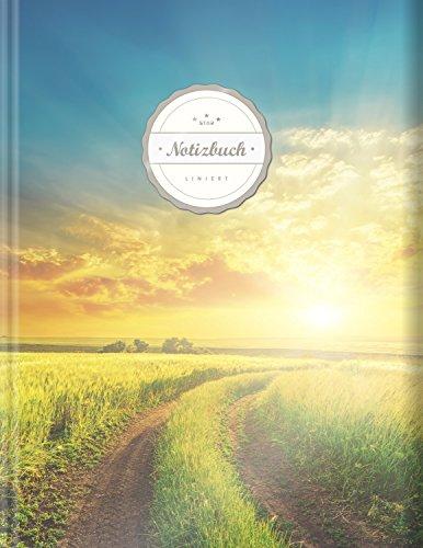 """Liniertes Notizbuch (©Star, A4, 156 Seiten, Softcover)    Mit Register + Doppelrand + Lineatur 27    Dickes Notizbuch, Fester Einband, Deutschheft, Schreibheft, Schulheft, Tagebuch, """"Fernweh"""""""