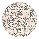 Coloray Tabla De Cortar Cocina ⌀ 40 cm Protector Placa De Induccion Vidrio Templado Para Servir Platos - Hojas de rayas delicado suave