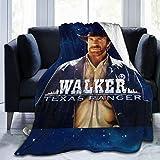 Kcoremia Walker Texas Ranger Soft Fleece Blanket Cozy Printed Bed Blanket 50'X40'
