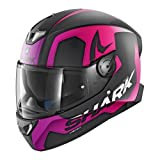 Shark 2678_26833 Casco de Moto SKWAL 2 Trion KUA-M, Hombre, Negro/Blanco, Medium