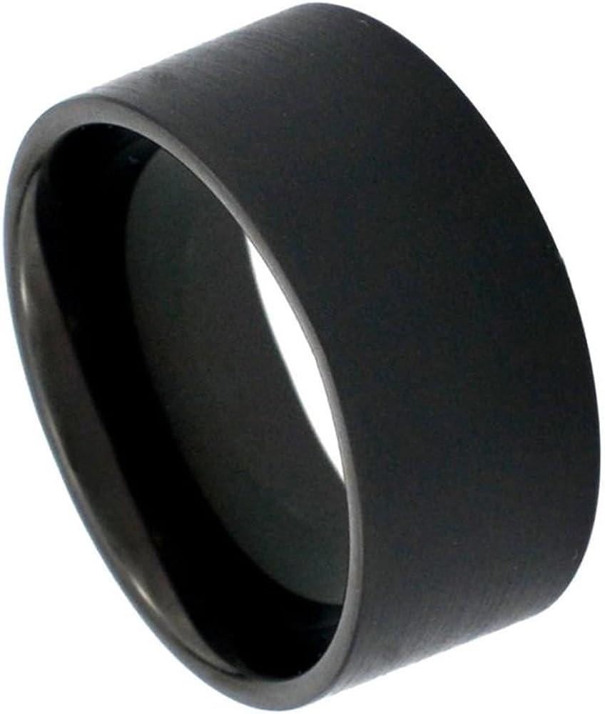 12mm Tungsten Spring Genuine Free Shipping new work Carbide Black Enamel Finish Cut Pipe Satin Wedding