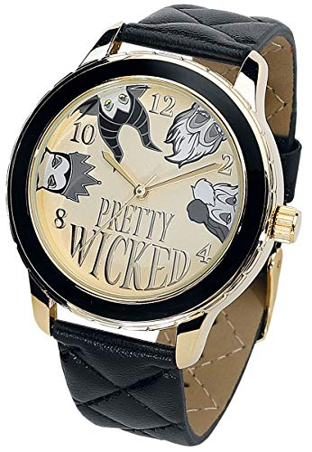 Disney Villains Pretty Wicked Frauen Armbanduhren schwarz