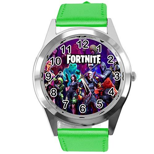 Taport® Armbanduhr für FORTNITE Fans aus Leder, Grün