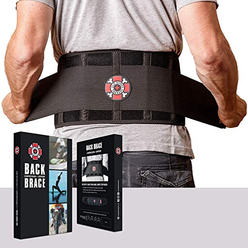 Old Bones Therapy Lower Back Brace with Adjustable Straps | Lumbar Support for Immediate Relief (Back Brace, L/XL, Fits 34 - 43 Inches)