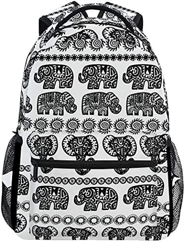 School College Backpack Rucksack Travel Bookbag Outdoor Indian Elephant