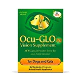 Ocu-GLO PB Vision Supplement for Small Dogs & Cats – Easy to Administer Powder Blend with Lutein, Omega-3 Fatty Acids, Grape Seed Extract and Antioxidants to Promote Eye Health, 30ct Sprinkle Capsules