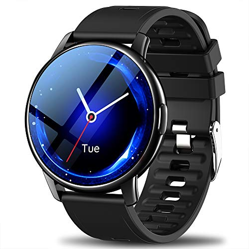 LEMFO Smart Watch For Men, Full Touch Screen With 24 Sports Modes Smartwatch, Heart Rate Monitor Blood Pressure Sleep Counter GPS Activity Tracker, IP68 Waterproof Smart Watches For Android IOS
