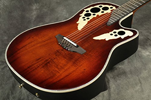 Ovation ExoticWoods Collection 6 String Acoustic-Electric Guitar, Right, Koa, Deep Contour Body (C2078AXP-KOA)