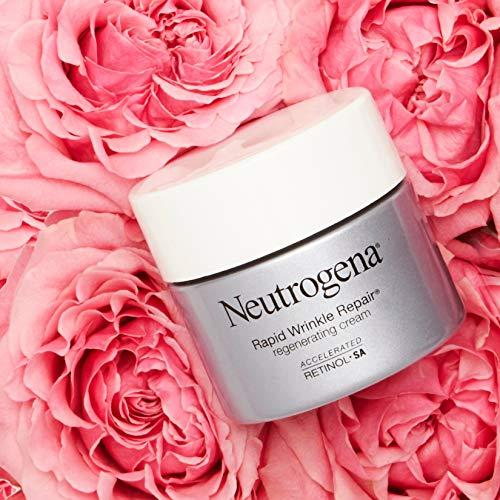 51qaCTEgPjL - Neutrogena Rapid Wrinkle Repair Retinol Regenerating Anti-Aging Face Cream & Hyaluronic Acid; Anti-Wrinkle Retinol Moisturizer & Neck Cream, with Hyaluronic Acid & Retinol, 1.7 oz