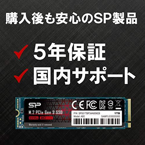 SiliconPower(シリコンパワー)『PCIeGen3x4P34A80』