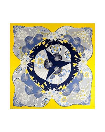 MayTree Pañuelo de seda para mujer, 100% seda de morera, cuadrado, 110 x 110 cm