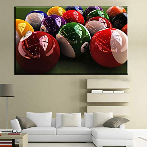 N / A Riesige Moderne Mode American Billiard HD Fotografie Kunst Leinwand Malerei Wand Poster Bild Wohnzimmer Home Rahmenlose Malerei 21cmX30cm