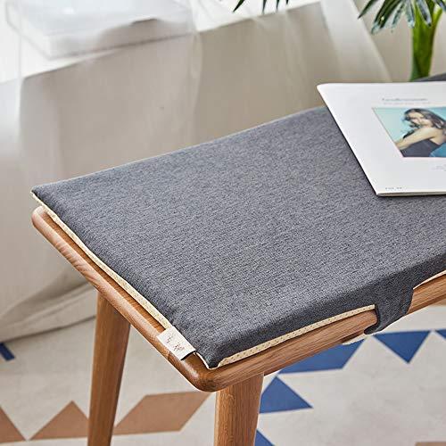 BoruisX Coussin de banc de jardin 2 ou 3 places pour meubles d'intérieur ou d'extérieur - 150 x 35 cm - Gris foncé