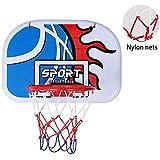 XIUYU Mini Basketballkorb Wand befestigter beweglichen Basketball Backboard Indoor Outdoor Sport Geeignet for Erwachsene und Kinder Spielen (Size : 46.5 * 32.5cm)