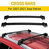 AUXMART Roof Rack Cross Bars Fit for 2007-2021 Jeep Patriot with Vertical Side Bars OE Style, Adjustable Rooftop Luggage Rack,Aluminum Cargo Carrier Bars