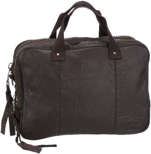 Frankie's Garage Laptop Bag JF21281012-020, Unisex - Erwachsene Laptop-Taschen, Braun (darkbrown 020), 41x31x12 cm (B x H x T)