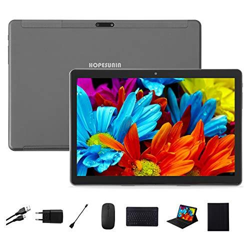 HOPESUNIN 9,7-Zoll-Android-Tablet mit ultraschnellem Android 9.0, 4 GB RAM, 64 GB ROM - Google GSM-Zertifiziert, ultradünn 8000 mAh / 5 MP 8 MP/Type- C (grau)