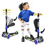 Hurtle 3-Wheeled Scooter for Kids, Graffiti