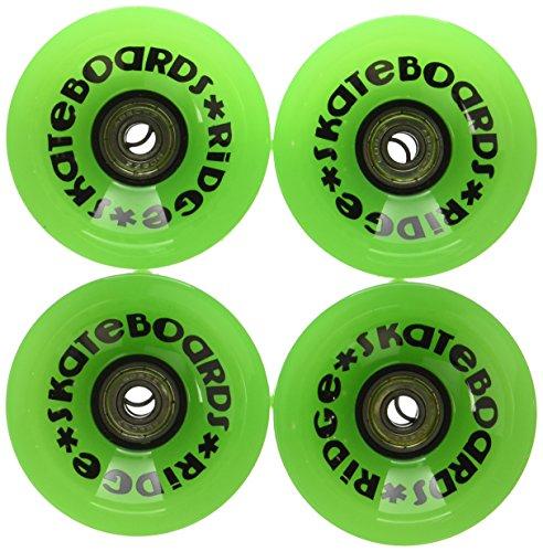 Ridge 70mm Longboard Wheels Skateboard Räder, Grün, 70 mm