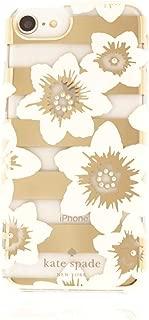 Kate Spade Hollyhock Gold Stripe Rhinestone I Phone Case 6/6s/7/8 Plus