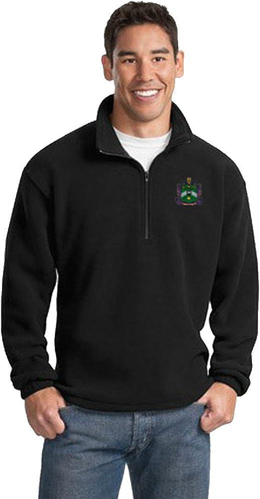 Delta Sigma Phi Emblem 1/4 Zip Pullover