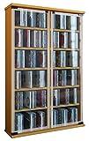 VCM Galerie Mueble CD/DVD para 300 Piezas, Haya, Haya, 91,5x60x18 cm