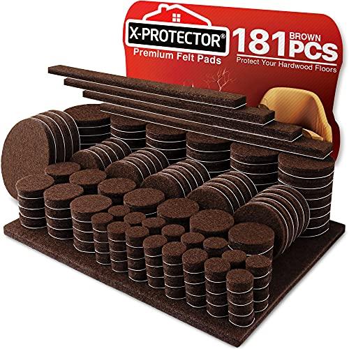 X-PROTECTOR Premium Ultra Large Pack Furniture Pads for Hardwood Floors