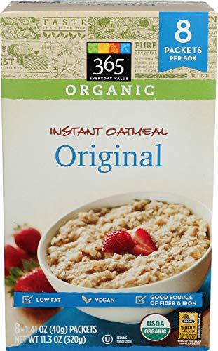 365 Everyday Value, Organic Instant Oatmeal Original, 8 ct
