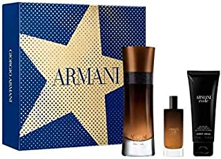 GIORGIO ARMANI Code PROFUMO Eau DE Parfum 110ML VAPORIZADOR + Gel DE BAÑO 75ML + Miniatura 1U. Unisex Adulto Negro Único