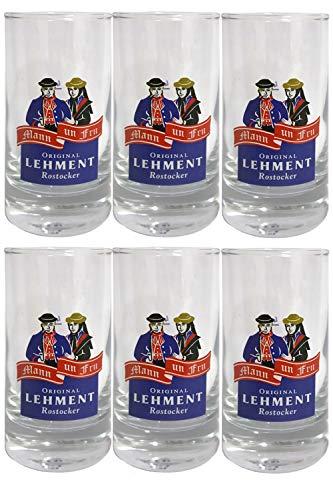 Lehment Rostocker Shot Gläser 2cl 6 Stück