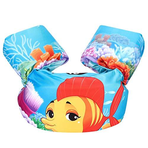 Gaocheng Zwemvest voor kinderen, peuter zwemmen trainingsjack opblaasbare armbanden Zwembad drijft mouwen leren zwemmen watervleugels jongens meisjes zwemmen trainingshulpmiddelen voor 2-6 jaar oud