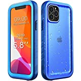 SPORTLINK iPhone 11 PRO Waterproof Case with Built-in Screen Protector, Full Body Sealed for Outdoodr Underwater Rugged Cover for iPhone 11 PRO 2019 Released 5.8 inch (Blue)