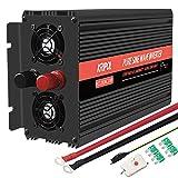 KRIPOL Inverter Onda sinusoidale Pura 1000/2000W Trasformatore di Potenza Convertitore 12V...