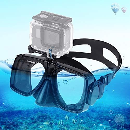 Los deportes acuáticos equipo de buceo máscara de buceo de natación Equipo de buceo deportivo Agua LLD máscara de buceo que nadan los vidrios, compatible con el DJI Nueva acción, GoPro HERO7 / 6/5/5 S