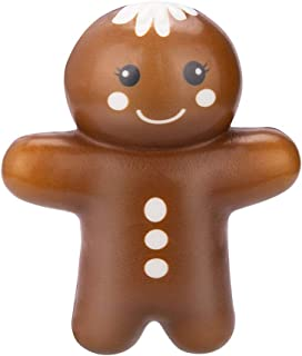 Gingerbread Man Slow Rising Toy, Christmas Slow Rising Cream Scented Stress Relief Toys Gift for Girls Boys Kids Toddlers