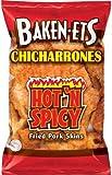 Baken-Ets Hot 'N Spicy Flavored Fried Pork Skins, 1 ounce (pack of 8)