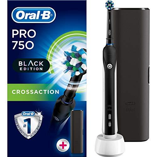 Braun Oral B Pro 750 All Black Edition 3D con funda de viaje