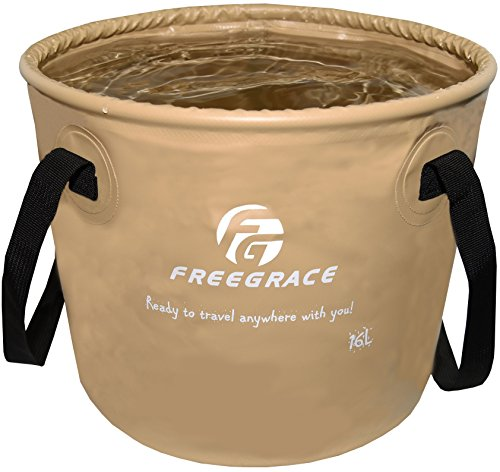 Freegrace Premium Compact Collapsible Bucket Portable Folding Water Container - Lightweight &...