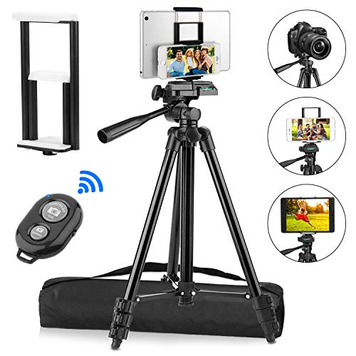 PEYOU Compatible for iPad iPhone Tripod, 50'...