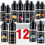 [12x 10ml] AOKEY E Liquide Cigarettes électroniques, 70VG/30PG, 12 Saveurs Différentes, Produit Cigarette Electronique. adapté...