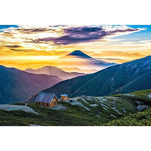 Puzzles Japón Monte Fuji Paisaje Rompecabezas, Ocio Creativo Educativos Juegos Juguetes 500/1000/1500/2000/3000/4000/5000/6000 Piezas 0928 (Color : No partition, Size : 6000 Pieces)