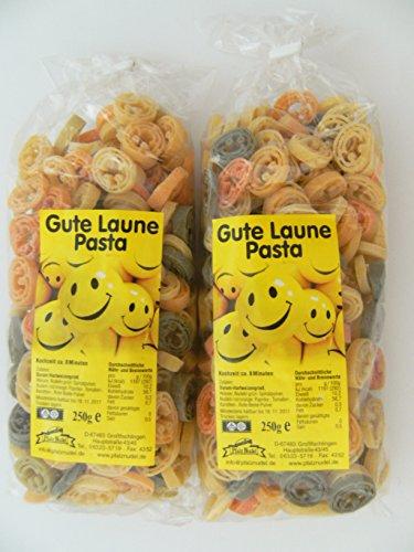 Streuteile Gute Laune aus Nudelteig, 2x 250 g, Nudeln, Pasta, Dekoration, Delikatesse, Lächeln