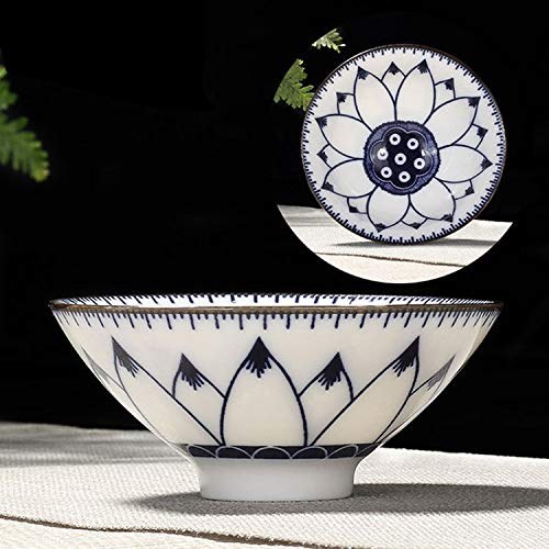 Water LIJM Household Handgeschilderde Keramiek Kung Fu Tea Set Thee Van Bowl, Maat: Large (Snow Plum Blossom) Cups (Color : Hibiscus)